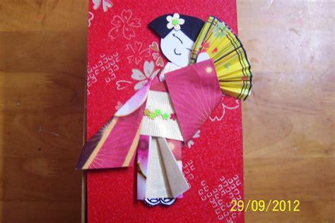 Origami Japanese Doll - elaine s ideashop origami japanese dolls