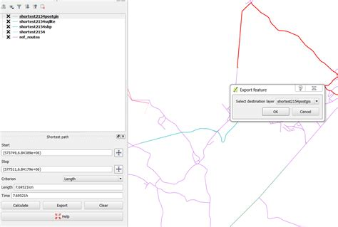 qgis road graph tutorial qgis road graph export doesn t work to layer postgis