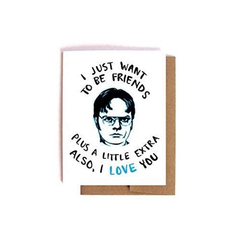 dwight schrute love card  office valentines day