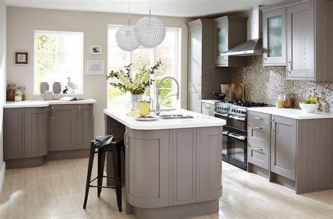 cooke and lewis kitchen cabinets cooke lewis carisbrooke taupe diy at b q