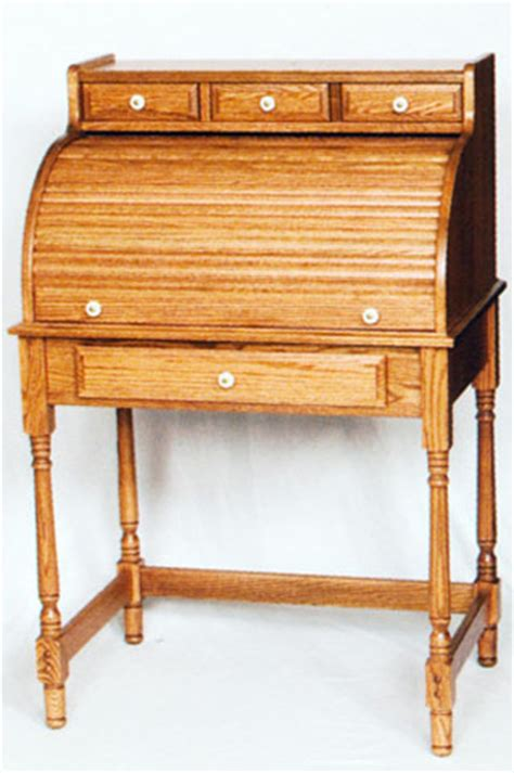 Cover Desk by View Of Amish Oak Mini Roll Top Desk With Cover Closed