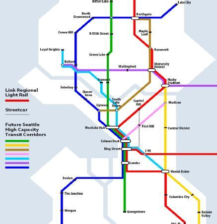 Seattle Light Rail Map Pdf by Queen Anne View
