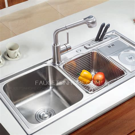 double sink kitchen stainless steel multi functional double sinks kitchen sinks