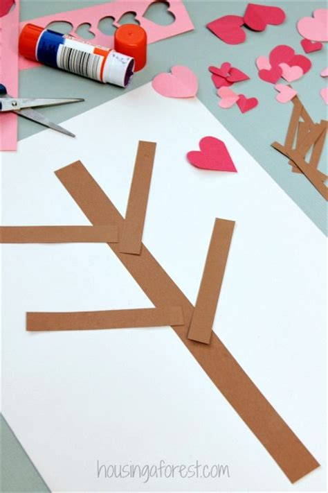 Construction Paper Valentines Day Crafts - valentine s day tree paper craft housing a forest