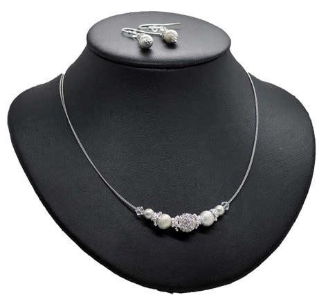 Perlenkette Zur Hochzeit by Funkelnder Brautschmuck Mit Sterling Silber Perlen