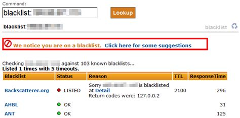 Email Address Blacklist Lookup How To Check To See If Your Email Server Is Blacklisted On Mail