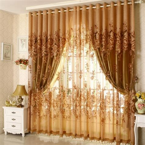 peony curtains aliexpress com buy ready jacquard print peony curtains