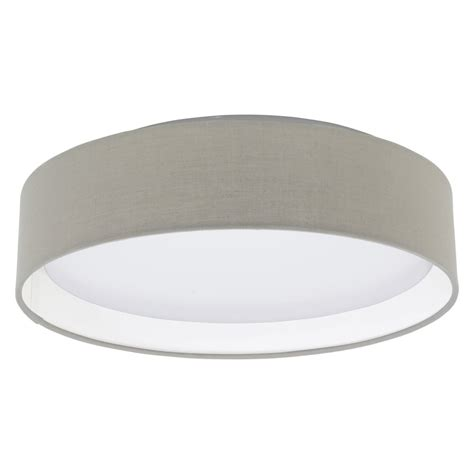 eglo 31589 pasteri led taupe fabric ceiling light