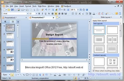 Aplikasi Office Gratis Kingsoft Office Suite Free 2012 Kingsoft Presentation Free