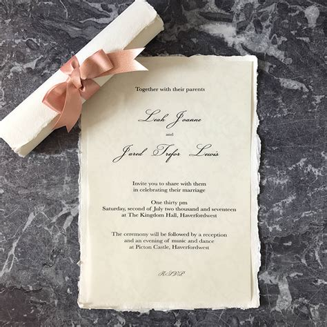 Wedding Invitations Handmade Paper by How To Make Easy Scroll Invitations Imagine Diy