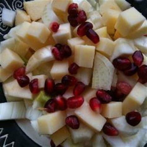 Wirst Se 20 Original salat mit apfel k 228 se fenchel und granatapfel rezept