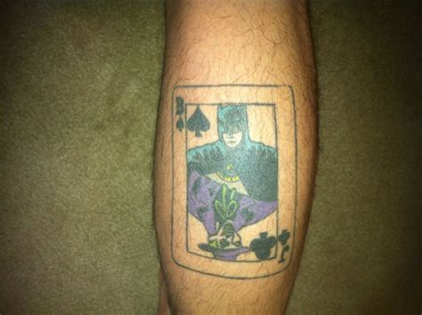 joker card tattoo 38 batman joker tattoos