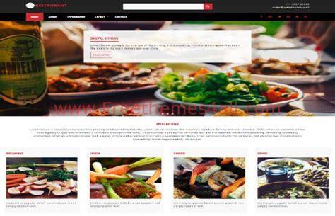 theme drupal restaurant responsive restaurant drupal 8 theme freethemes4all