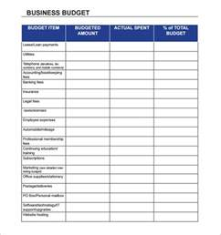 Expense Budget Template Easy To Use Sample Business Budget Template And Worksheet