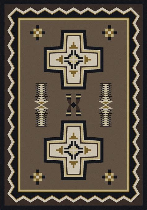 saints area rug southwest rugs 4 x 5 cross rug lone western decor
