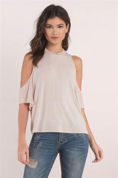 Top Blouse blouse cold shoulder blouse half shoulder tops