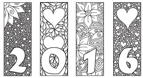 coloring page for new year 2016 adult coloring page new year 2016 2016 card 4
