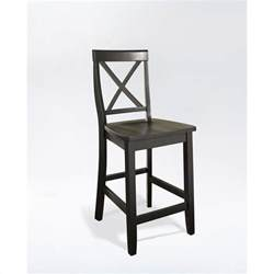 Counter Height Bar Stool 24 Quot X Back Counter Stool In Black Finish Cf500424 Bk