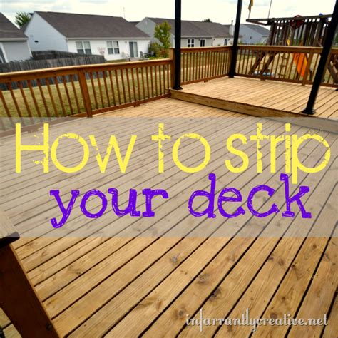 Removing Stain From Wood Deck by How To Strip A Deck Infarrantly Creative
