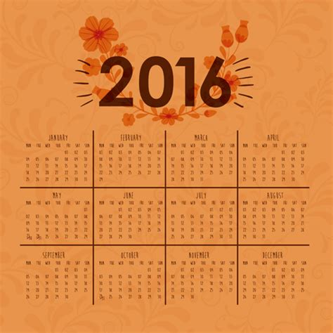 design calendar simple simple wall calendar 2016 design vectors set 12 vector