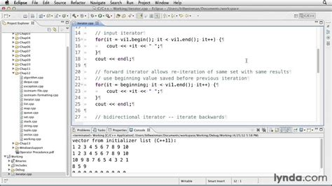 iterator pattern youtube working with iterators in c and c lynda com tutorial