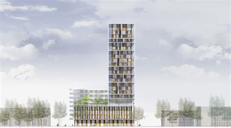 residential towers getting the backyard in the city part gridded residential tower in antwerp by c f m 248 ller and brut
