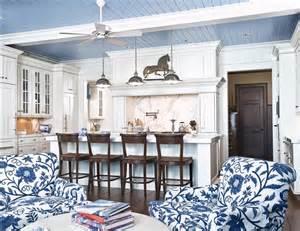 Muskoka Interior Design Delorme Designs Blue Beadboard Ceilings