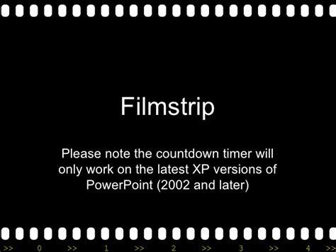 Filmstrip With Countdown Filmstrip Countdown