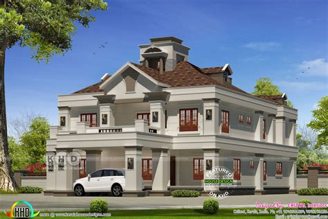 Colonial Luxury House Plans 5 Bedroom Colonial Model Luxury House Kerala Home Design And Floor Plans
