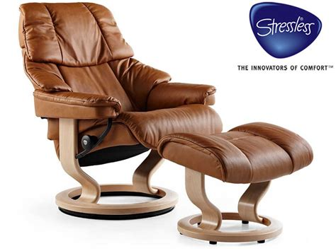 Buy Stressless Recliner by Stressless Reno Large Recliner And Stool In Leather