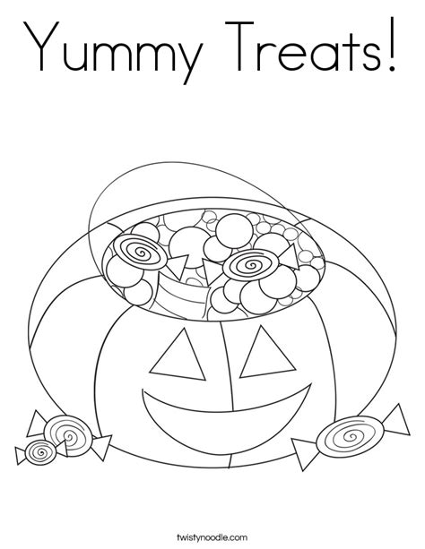 halloween coloring pages twisty noodle yummy treats coloring page twisty noodle