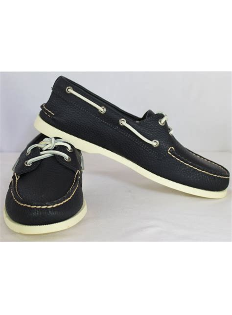 Sperry Top Sider Authentic Original New Navy sperry top sider authentic original boat shoe 2 eye shoe navy