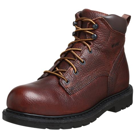 mens redwing boots wing mens 6 unlined steel toe work boot in brown for