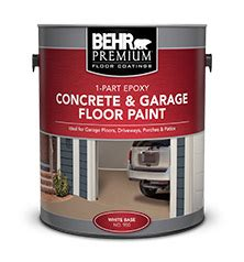 1 Part Epoxy Concrete & Garage Floor Paint   BEHR PREMIUM