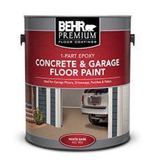 1 Part Epoxy Concrete & Garage Floor Paint   BEHR PREMIUM