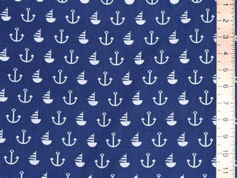 boat fabric anchor sail boat printed polycotton fabric