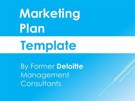 Marketing Plan Template In Powerpoint Consulting Marketing Plan Template