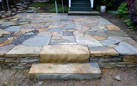 Patio Pavers Asheville Nc Steps And Patio By Hammerhead Stoneworks Asheville