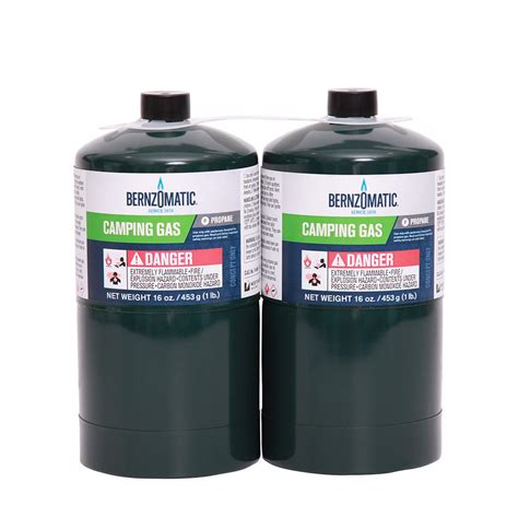 Home Depot Propane Refill by Bernzomatic 1 Lb Cing Gas Cylinders 2 Pack 332773