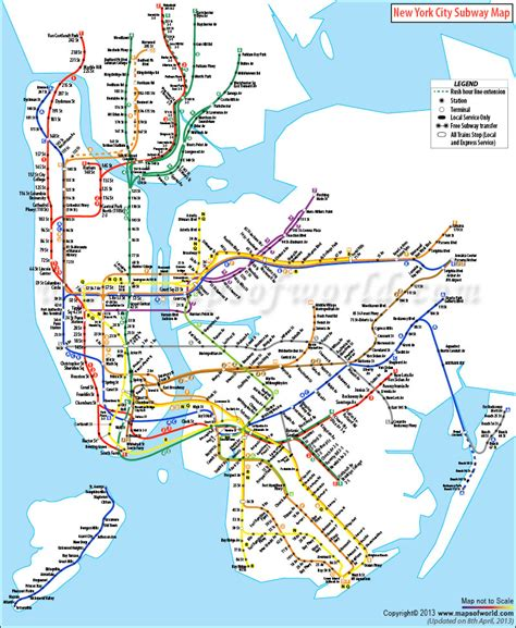 map subway new york city nyc subway map new york city subway map travel
