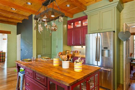 barn red kitchen cabinets barn red and green sage are the charming paint color for