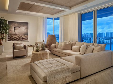 Living Room Club Miami Marina Palms Yacht Club Residences Miami