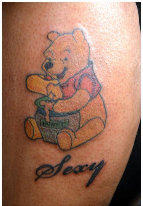 cartoon bear tattoo designs pooh bear tattoo