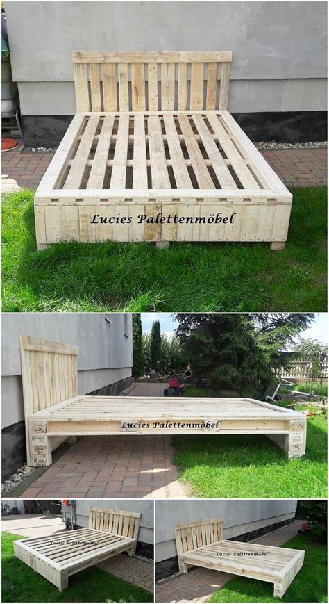 Shipping Pallet Bed Frame Mind Blowing Creations With Recycled Shipping Pallets Pallet Wood Projects