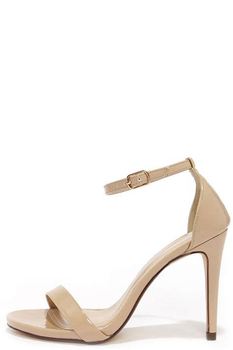 beige heels ankle heels single heels