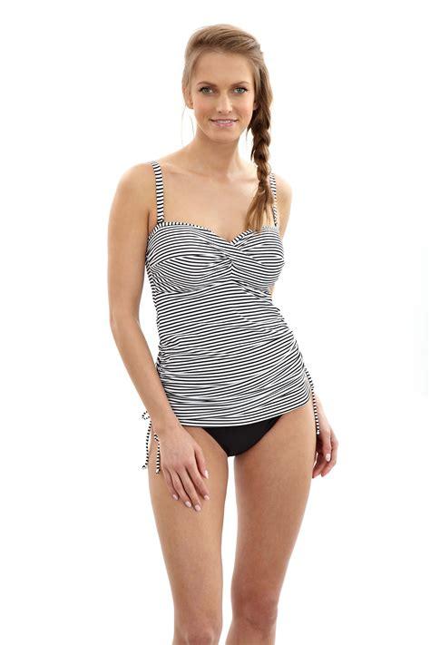 Stripe Tankini black and white striped tankini wardrobe mag