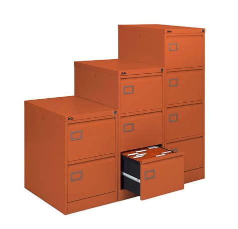 Orange Filing Cabinet Orange Executive Filing Cabinet 3 Drawers