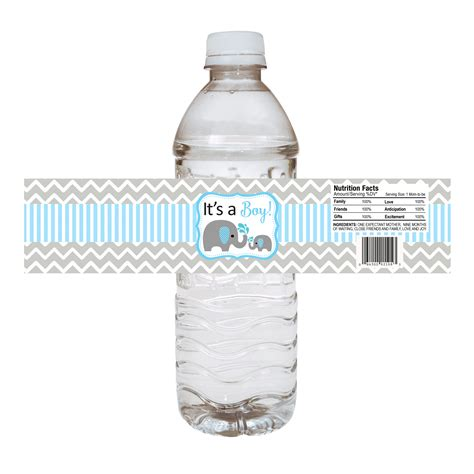 Water Bottle Baby Shower Labels by Baby Boy Elephant Water Bottle Labels For Baby Shower