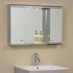 lighted bathroom mirror cabinet illumine dual stainless steel medicine cabinet with