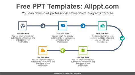 linear flow chart template 5 step linear flow powerpoint diagram template